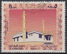 1971 UAE Sharjah mi.b863 postally used, mosque mezquita [sr3119]