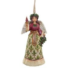 """Jim Shore """"VICTORIAN HOLLY ANGEL WITH CANDLE""""  Ornament ~ NEW ~ Great Gift Idea"""