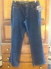 """New! Liz Claiborne jeans, women's 14, Jackie bootcut, 32"""" inseam, dark blue"""