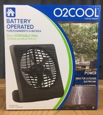O2COOL 5 in. Portable Fan Battery Operated 2 Speeds Adjustable Tilt New Black