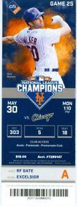 2016 Mets vs White Sox Ticket: Matt Harvey win/Neil Walker HR/Ty Kelly 1st Hit