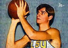 Pete Maravich LSU Tigers Artist Sketch Card *Artist Signed* Rare Serial 3/5