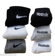 Combo Set of 6 pairs Reebok and Nike logo Sports ankle length Socks
