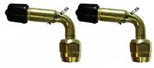 MOTORCYCLE 2 X 90 DEGREE BRASS ANGLED TYRE VALVE EXTENSION BIKE MOTORBIKE TRUCK