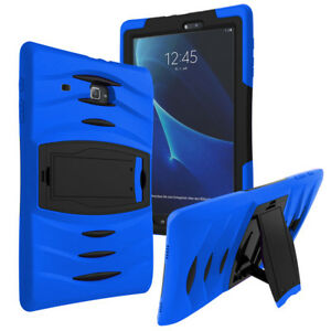 Shockproof Heavy Duty Armor Case Cover For Galaxy Tab E Lite 7.0 T116 (Blue)