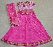 Navaratri Cotton Chaniya choli Lahenga Skirt Garba Belly Dance costume pink