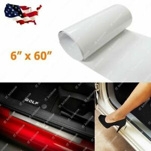 "6"" x 60"" Auto Clear Door Sill Or Door Edge Paint Protection Film Vinyl Sheet"