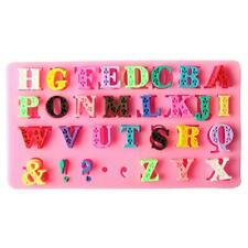 Silicone Alphabet Letter Symbol Fondant Mold Cake Decorating Baking Mould Tool L
