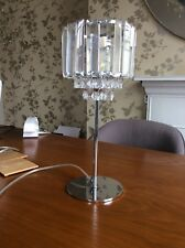 Laura Ashley Vienna Chrome Table Lamp Glass Crystal Drops