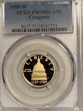 1989-W $5 Congress Gold Commemorative Coin PCGS PR70DCAM