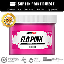 Fluorescent Pink Screen Printing Plastisol Ink Low Temp Cure 16oz