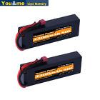 2pcs Youme 11.1V 3300mAh 3S Lipo Battery Hardcase 50C Deans T for RC Car Truck