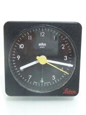 Leica-Braun-quarz-Wecker-Uhr-Tischuhr-Reisewecker-Made in Germany