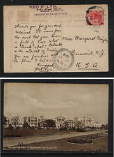 Malaya  nice photo post card to US   1914          MS1125