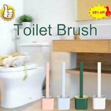 Silicone Toilet Brush with Toilet Brush Holder Creative Cleaning Brush SetUseful