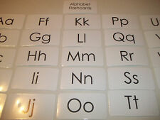 26 Laminated Black and White Alphabet Flashcards.  Uppercase and Lowercase lette