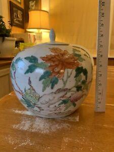 Old Chinese Porcelain Large Famille Rose Jar