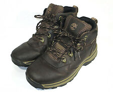 Timberland Boys Hiking Boots Size 4.5 Brown Leather Waterproof 66961