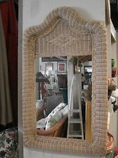 Fran's Wicker Charlotte Mirror, Natural Finish
