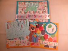 BIRTHDAY  3D PAPER PIECING  SCRAPBOOK PAGE MAT SET