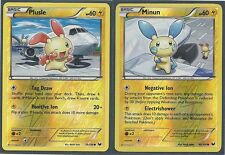 2 DARK EXPLORERS Pokemon Card - PLUSLE & MINUN - REV HOLO MINT