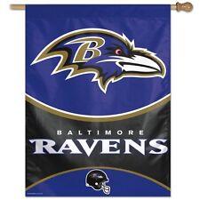 """NFL Baltimore Ravens Vertical Flag 27 """" X 37 """" New"""