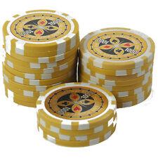 25 Pokerchips 13g Clay (Ton) Wert 1000 gelb Metallkern Ultimate Poker Laser
