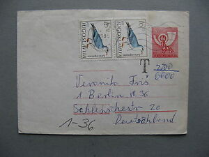 YUGOSLAVIA, uprated prestamped cover to Germany 1985, stamps bird, postage due