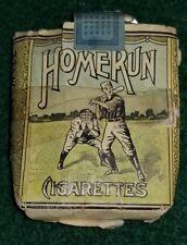 Original Antique 1920s Home Run Tobacco Cigarettes Package Liggett & Myers L&M