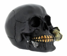 Nemesis Now S2794G6 Rose From The Dead Skull Figures - Black