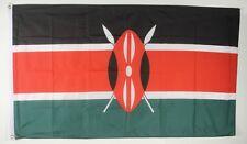Kenia bandera de 90 x 60 cm resistente a la intemperie bandera ojales interior & exterior hissflagge