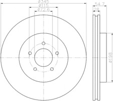 2 x Textar Bremsscheibe PRO VA innenbel. für Chrysler 300 3,0-5,7 92177105