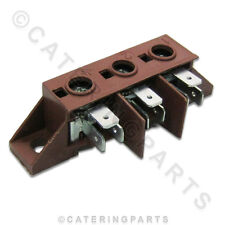 SILANOS 904140 3 POLE SCREW MOUNTED COOKER DISHWASHER TERMINAL CONNECTOR BLOCK