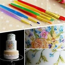 6PCS Fondant Sugarcraft Brush Set DIY Cake Icing Decorating Painting Tools Kit