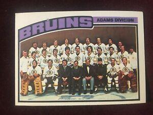 1976-77 Topps Boston Bruins Team Checklist Hockey Card #133