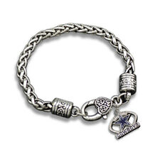 Dallas Cowboys Star Logo Football Dangle Fashion Lobster Clasp Bracelet