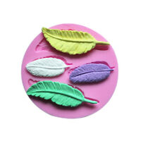 1 Set Cake Chocolate Mold Feather Silicone Fondant Mould Bakeware Tools