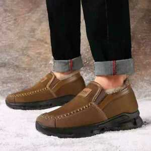 Winter Men's Warm and Comfortable Non-Slip Shoes High-Top Casual Ankle Boots New