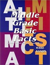 Saxon Math Middle Grade Basic Facts Card Set for 5/4 6/5 7/6 8/7 54 65 76 87