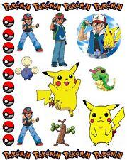 Pokemon Scrapbooking Craft Sticker Sheet Set #4
