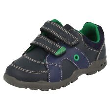 Clarks Flash Light Navy Blue walking shoes Boy size 6 H RRP $129.95