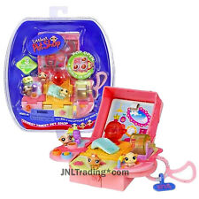 Year 2006 Littlest Pet Shop LPS Teeniest Tiniest Set with 3 Hamsters and Case