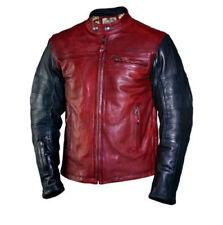 Blousons rouges en cuir pour motocyclette Homme