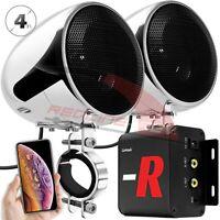 Bluetooth Amplifier Waterproof Motorcycle Stereo Speaker System MP3 FM Radio AUX