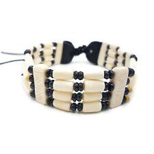 Buffalo Bone Choker Leather Beaded Stone Tribal Native American Jewelry Necklace