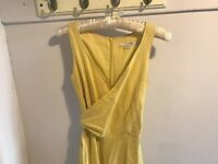 Beautiful Yellow Boden Dress, UK 6, Breastfeeding Friendly