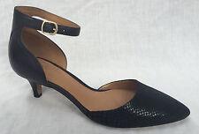 Clarks Ladies Sage Glamor Black Combi Leather Court Shoes UK 7 D - Standard Fitting