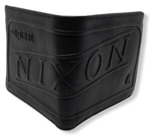 Nixon Men's Labelled Faux Leather Bi-Fold Wallet - Brown