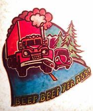 NOS 70s Big Rig Truck Trucker Volkswagen Beetle Bug Hippie vTg T-shirt iron-on