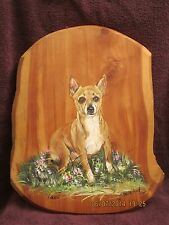 Original Signed Painting Fran Martin Dixon Tinnie the Chihuahua 1999 Artwork WoW